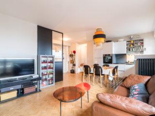 Restructuration d'un appartement<br>dans un style Années 60