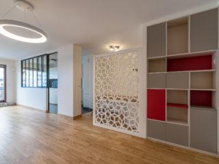 Couloirs et circulations <br>dans un appartement de 120 M²
